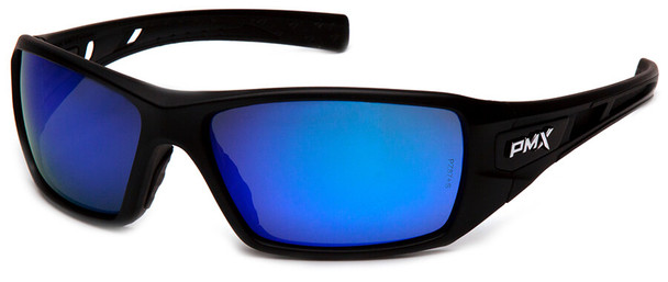 Pyramex Velar Safety Glasses with Black Frame and Ice Blue Mirror Lens SB10465D