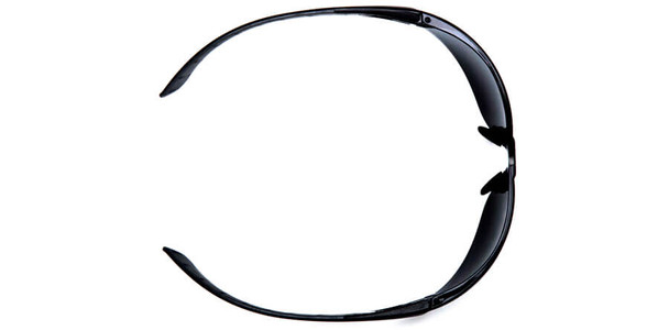 Pyramex Endeavor Plus Safety Glasses with Black/Gray Temples and Clear Lens - Top