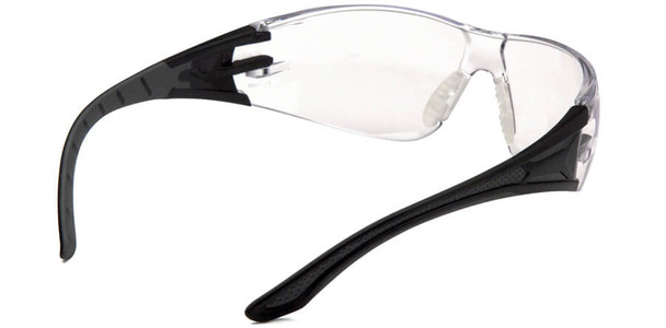 Pyramex Endeavor Plus Safety Glasses with Black/Gray Temples and Clear Lens - Back