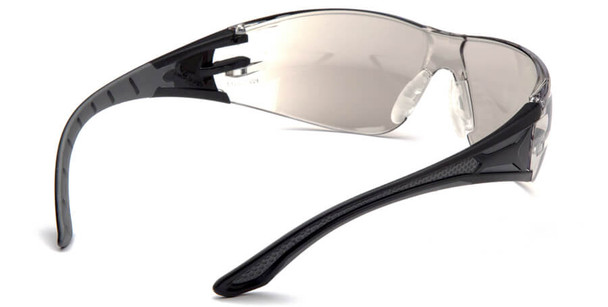 Pyramex Endeavor Plus Safety Glasses with Black/Gray Temples and Indoor-Outdoor Lens - Back