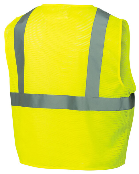 Pyramex RVZ21 Hi-Viz Safety Vest, Lime Back