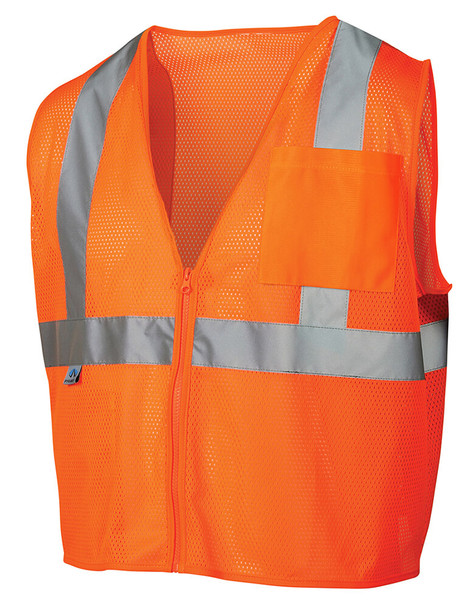 Pyramex RVZ21 Hi-Viz Safety Vest, Orange Front