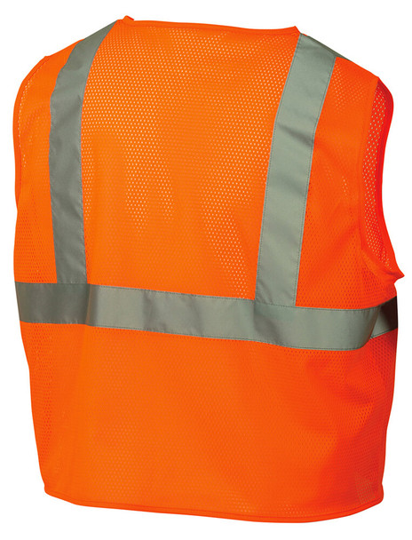 Pyramex RVZ21 Hi-Viz Safety Vest, Orange Back