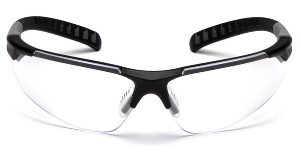 Pyramex Sitecore Safety Glasses with Black Frame and Clear Lens - Front
