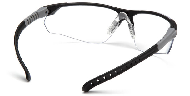 Pyramex Sitecore Safety Glasses with Black Frame and Clear Lens - Back