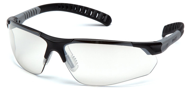 Pyramex Sitecore Safety Glasses with Black Frame and Indoor-Outdoor Lens