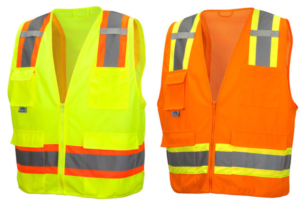 Pyramex RVZ24 Class 2 Hi-Viz Safety Vests