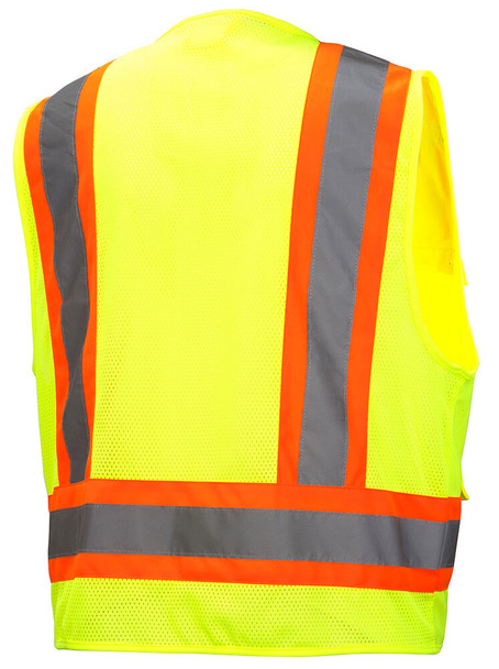 Pyramex RVZ24 Class 2 Hi-Viz Safety Vest, Lime Back