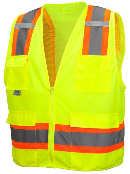 Pyramex RVZ24 Class 2 Hi-Viz Safety Vest, Lime