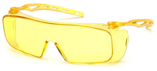 Pyramex Cappture Safety Glasses with H2MAX Amber Anti-Fog Lens