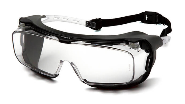 Pyramex Cappture S9910STMRG Safety Glasses with Gasket and H2X Clear Anti-Fog Lens