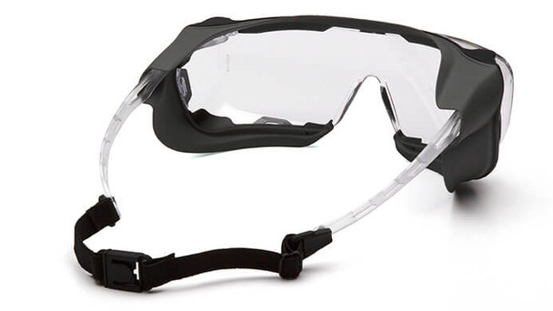 Pyramex Cappture Safety Glasses with Gasket and H2X Clear Anti-Fog Lens - Back