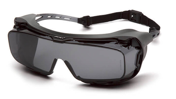 Pyramex Cappture S9920STMRG Safety Glasses with Gasket and H2X Gray Anti-Fog Lens