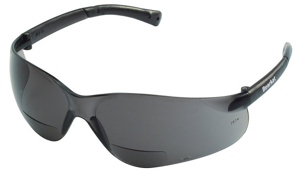 Crews Bearkat Magnifiers Bifocal Safety Glasses With Gray Lens