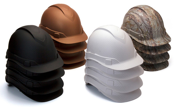 Pyramex HP44MIX Ridgeline Cap Style Hard Hat with 4-Point Ratchet Suspension - Mixed Case