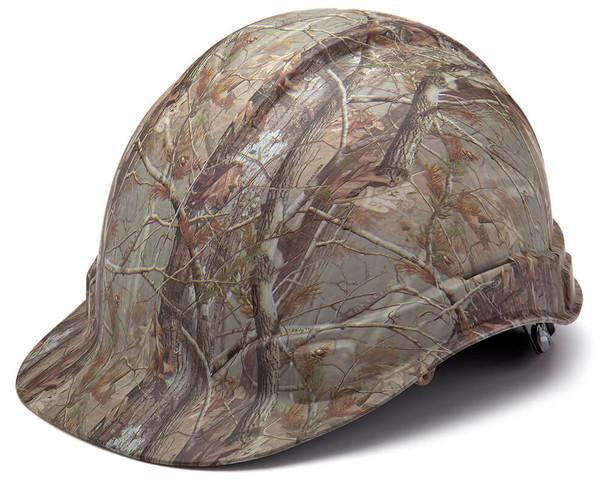 Pyramex Ridgeline Cap Style Hard Hat with 4-Point Ratchet Suspension - Matte Camo Pattern