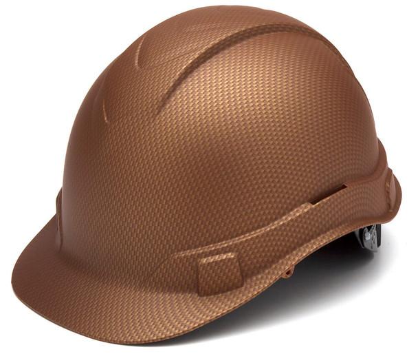 Pyramex Ridgeline Cap Style Hard Hat with 4-Point Ratchet Suspension - Matte Copper Pattern
