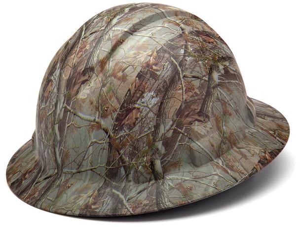 Pyramex Ridgeline Full Brim Hard Hat with 4-Point Ratchet Suspension - Matte Camo Pattern