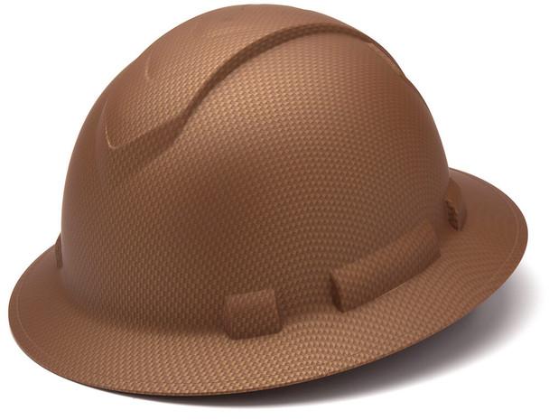 Pyramex Ridgeline Full Brim Hard Hat with 4-Point Ratchet Suspension - Matte Copper Pattern