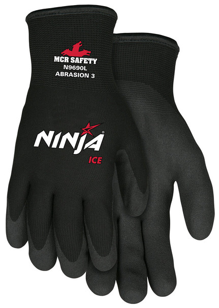 MCR Ninja Ice Cold Weather Work Glove HPT Palm and Fingertips