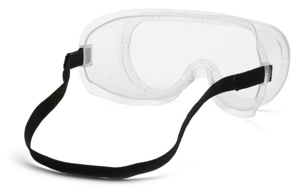Pyramex G200T Non-Vented Goggles with Clear H2X Anti-Fog Lens - Back