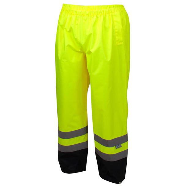 Pyramex RRWP3110 Premium Hi-Vis Rainwear Pants - Front
