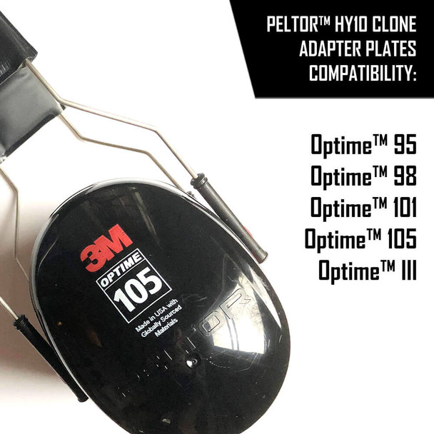 Noisefighter Sightlines Adapter Plates for Peltor Optime and Similar Headsets