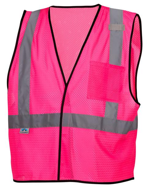 Pyramex RV1270 Non-ANSI Mesh Safety Vest - Pink - Front