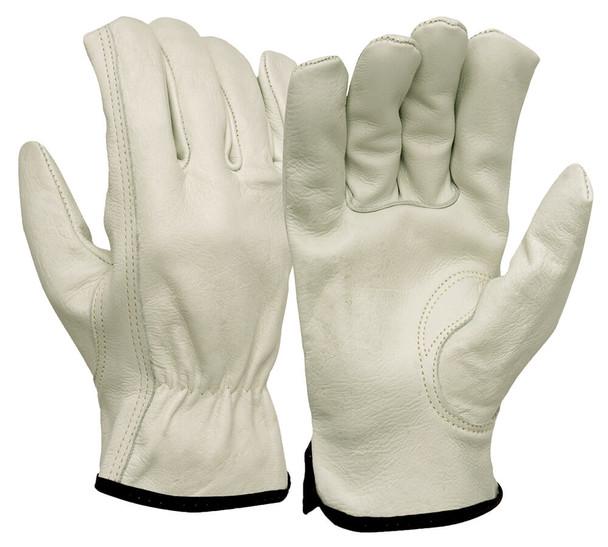 Pyramex GL2004K Grain Cowhide Leather Driver Gloves w/ Keystone Thumb (12 Pair)