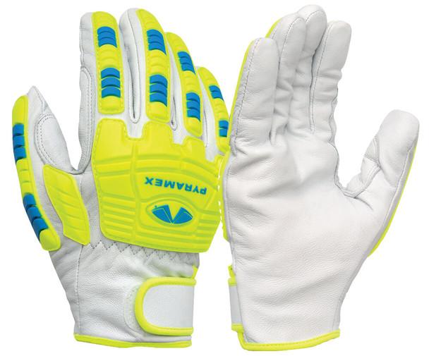Pyramex GL3004CW Premium Goatskin High-Visibility Leather Driver Gloves (12 Pair)