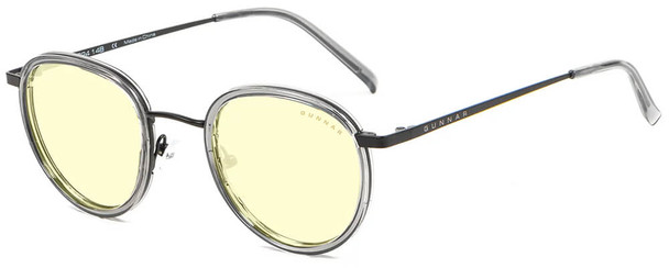 Gunnar Atherton Computer Glasses with Onyx Frame and Amber Lens