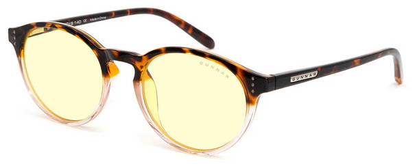 Gunnar Attache Computer Glasses with Tortoise-Rose Fade Frame and Amber Lens
