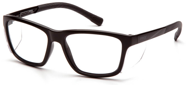 Pyramex Conaire Safety Glasses with Black Frame and Clear Lens SB10710D
