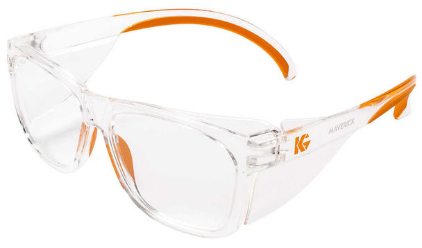 KleenGuard Maverick Safety Glasses with Clear Frame and Clear Anti-Fog Lens