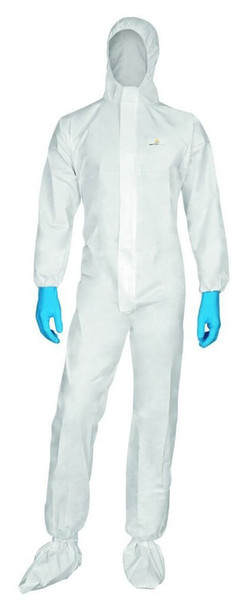 DeltaPlus Disposable Coveralls Non-Woven Hooded