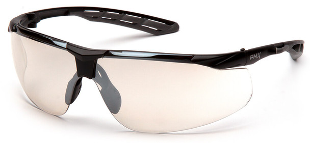 Pyramex Flex-Lyte Safety Glasses with Black/Gray Frame and Indoor/Outdoor Mirror Lens