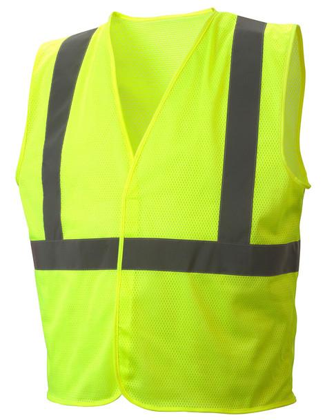 RVHLM2910 Type R Class 2 Hi-Vis Lime Mesh Safety Vest - Front