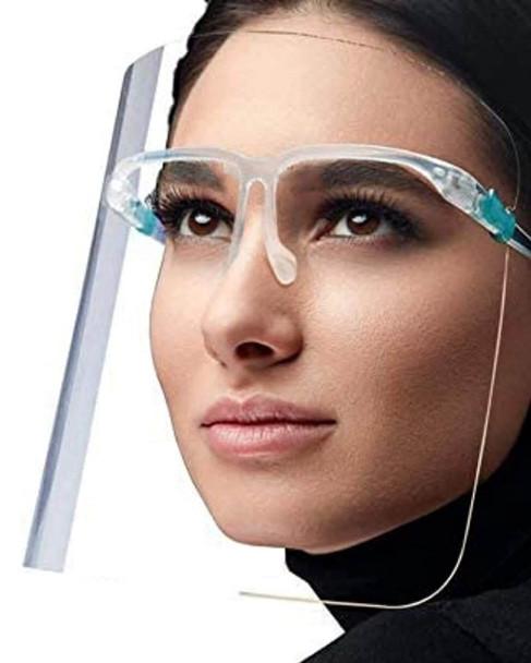 Face Shield, Anti-Fog, with Eyewear Frame Kit, 10-Pack - Model 3