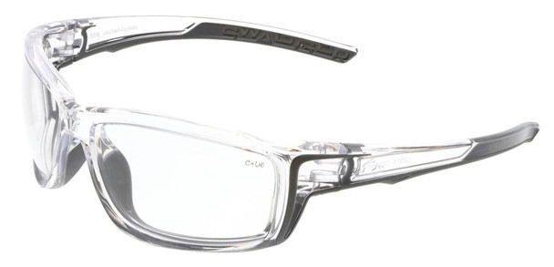 Crews Swagger SR4 Safety Glasses with Clear Frame and Clear Lens