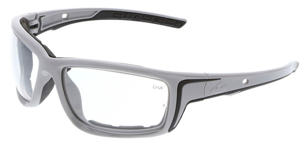 Crews Swagger SR5 Foam-Lined Safety Glasses with Gray Frame and Clear MAX6 Anti-Fog Lens