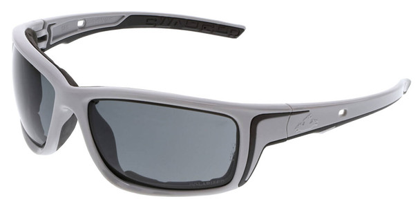Crews Swagger SR5 Foam-Lined Safety Glasses with Gray Frame and Polarized Gray MAX6 Anti-Fog Lens