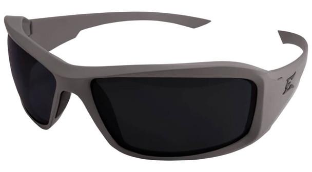 Edge Tactical Eyewear Hamel Safety Glasses with Mas Gray Thin Temple and Polarized Smoke Vapor Shield Lens