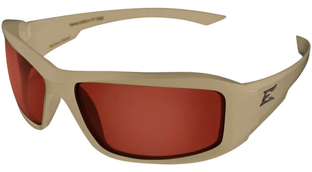 Edge Tactical Eyewear Hamel Safety Glasses with Sand Thin Temple and Copper Vapor Shield Lens