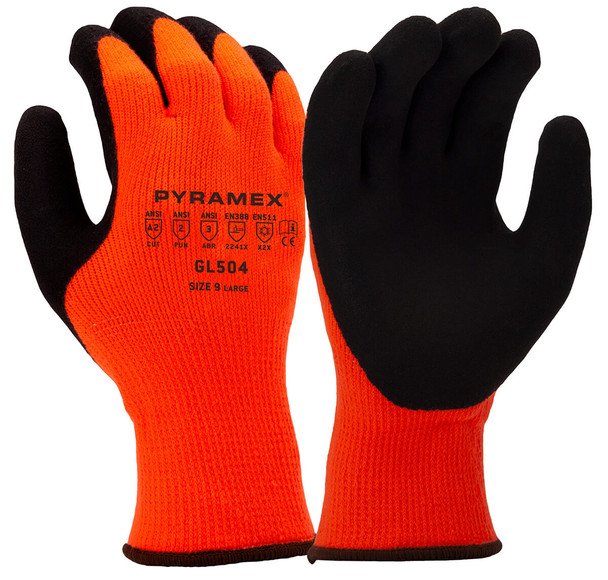 Pyramex GL504 Hi-Vis Winter Cut-Resistant Gloves