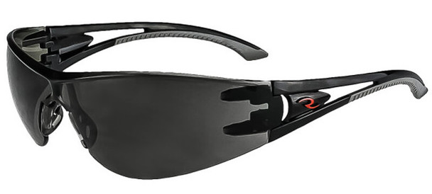 Radians Optima Safety Glasses with Black Frame and Smoke Lens