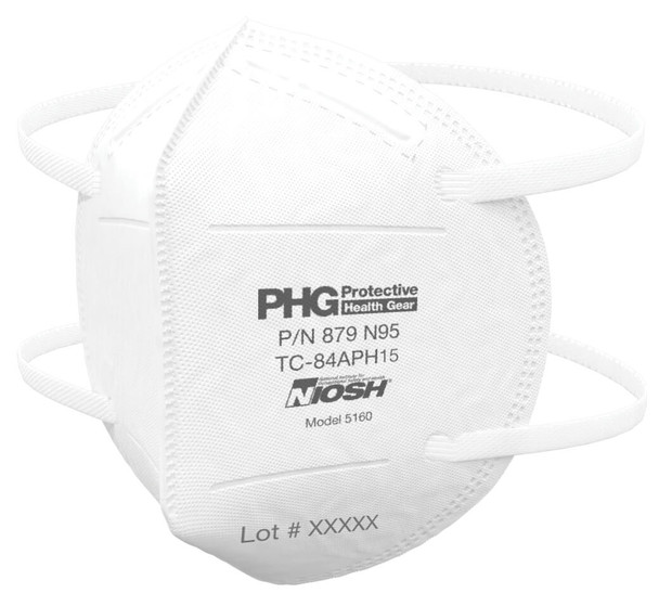 Protective Health Gear 5160 N95 Respirator NIOSH-Approved