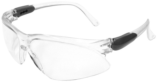 KleenGuard Visio Safety Glasses with Silver Temple and Clear Anti-Fog Lens
