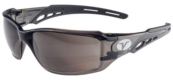 Encon Veratti Brio Safety Glasses with Black Frame and Gray Lens
