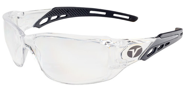 Encon Veratti Brio Safety Glasses with Black Frame and Clear Lens