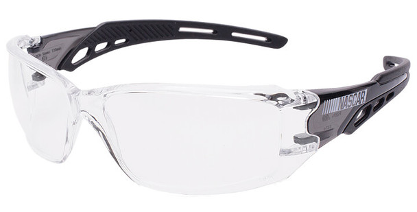 Encon NASCAR Brio Safety Glasses with Black Frame and Clear Lens